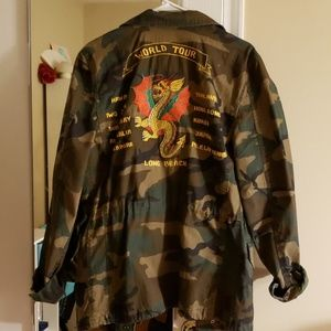 Alpha Industries Camo Dragon Tour Field Coat NWOT